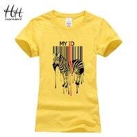HanHent Women Tee Shirt Zebra Bar Code Design T Shirts Swag 2016 Summer New Funny Fashion