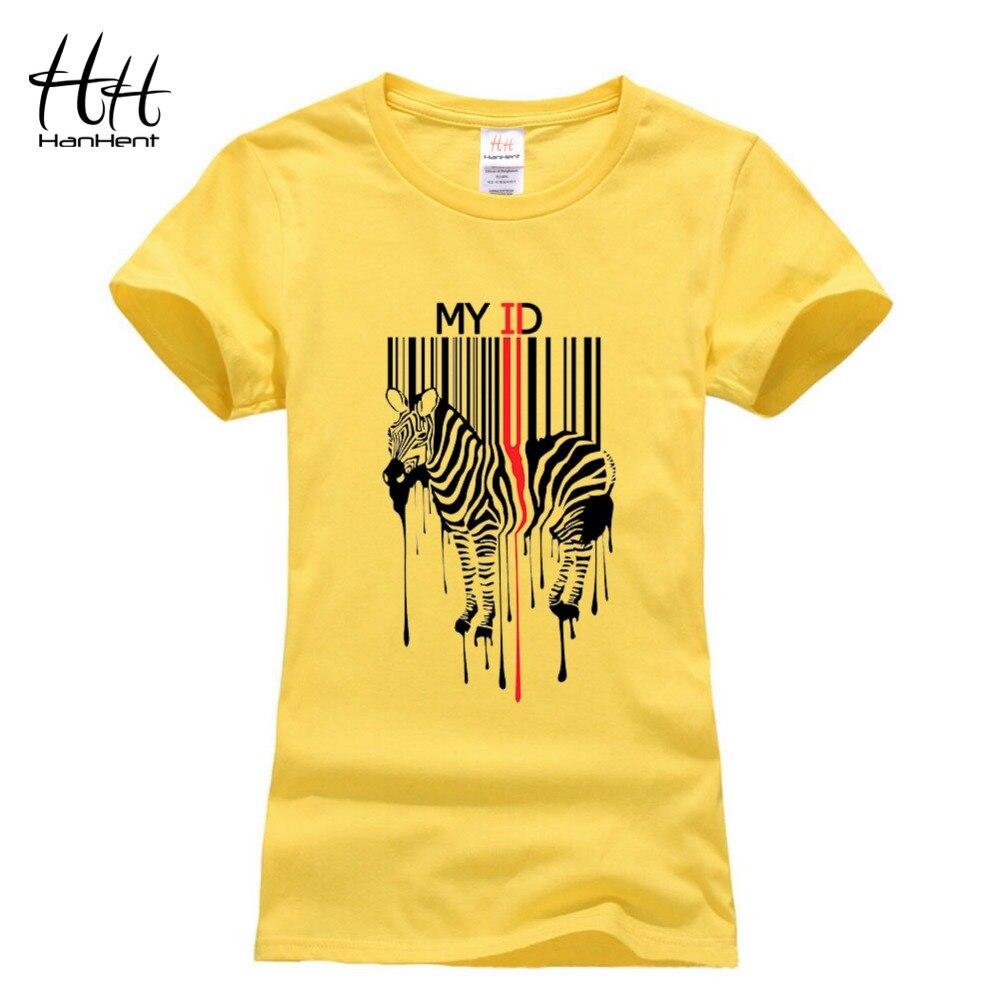 Design a t shirt horse - Hanhent Women Tee Shirt Zebra Bar Code Design T Shirts Swag 2016 Summer New Funny