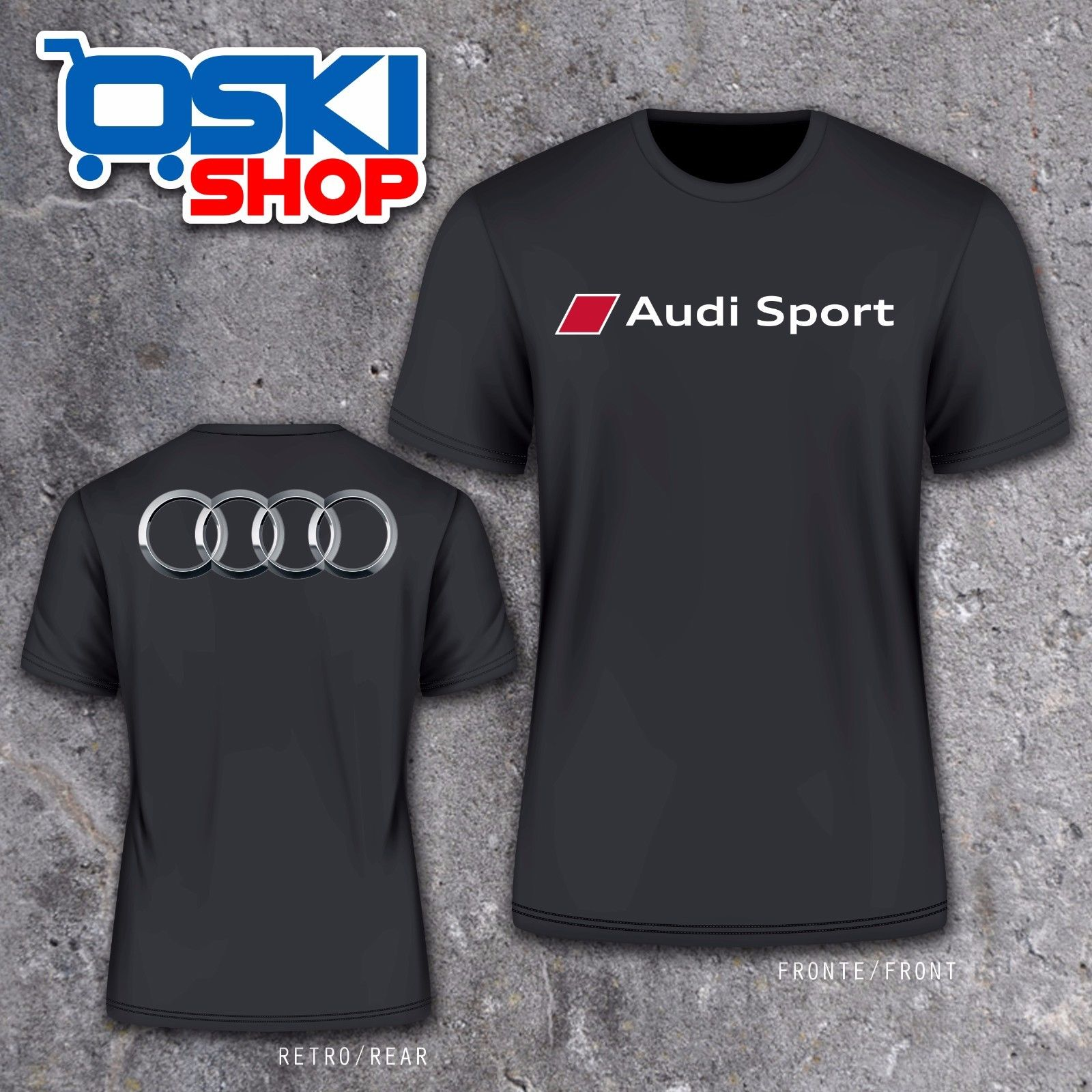 2018 Summer Funny Men Tee Shirt T-SHIRT MAGLIETTA GERMANY CAR SPORTER Q7 TT A3 A4 A6 RS S LINE HQUALITY TOP CAR TEES