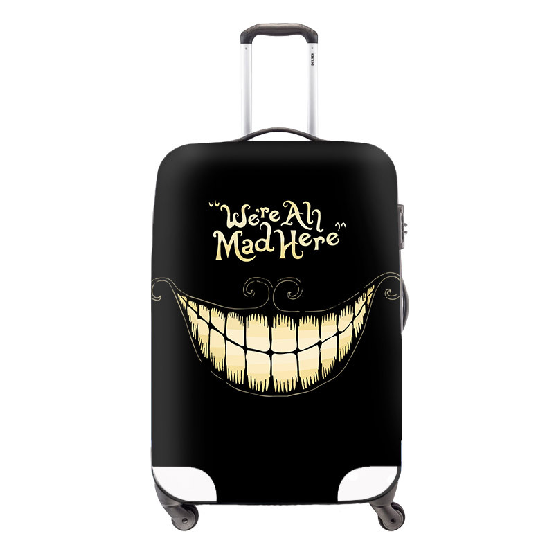 9 Hight Men Travel Luggage Cover Cool Skull Luggage Suitcase Cover Elastic Travel Dust Protective Cover Bag to 18-30 inch Suitcase