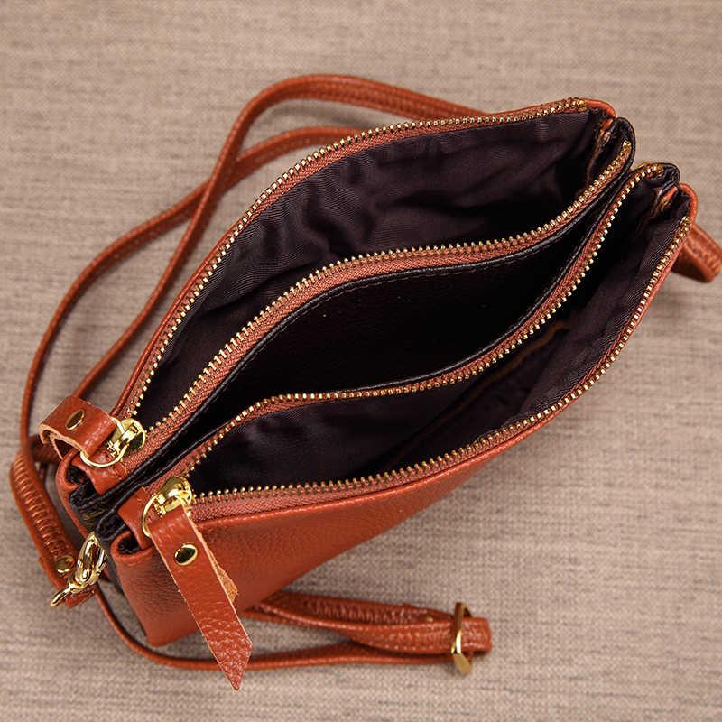 Sacos crossbody para as mulheres couro genuíno bolsa de ombro bolsa feminina saco do mensageiro das senhoras da bolsa da embreagem bolsas portfel 2019