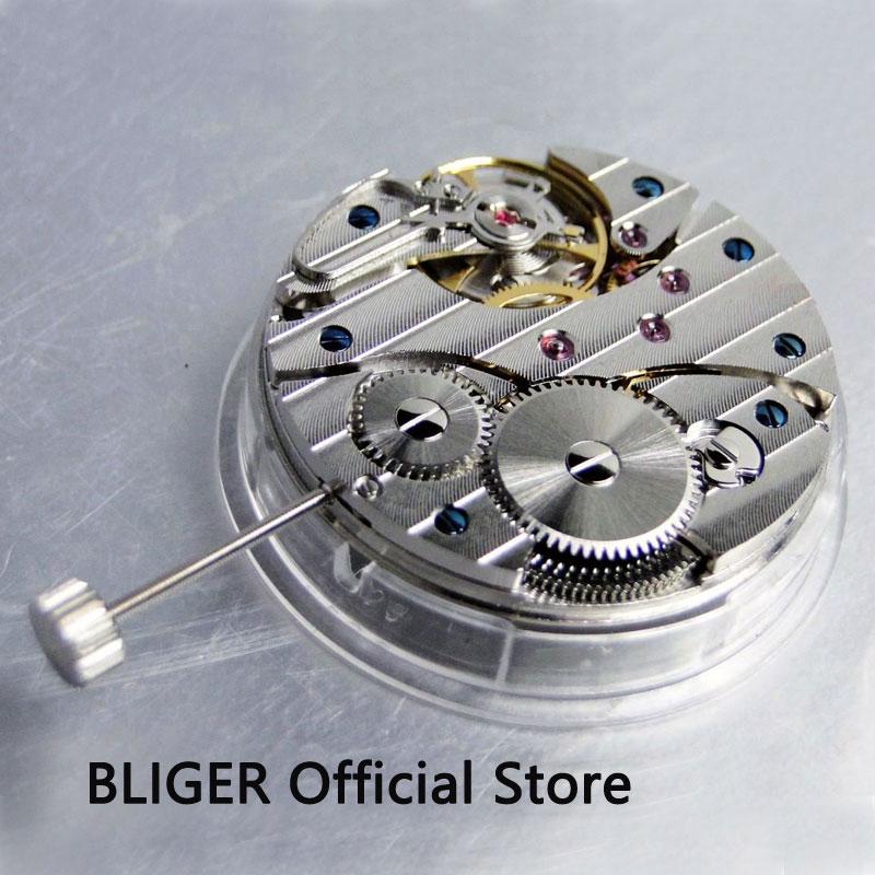 Klasyczne 17 klejnotów łabędzia szyja 6497 mechaniczna ręka Winding ruch zegarek męski ruch M1 w Tarcze do zegarków od Zegarki na  Grupa 1