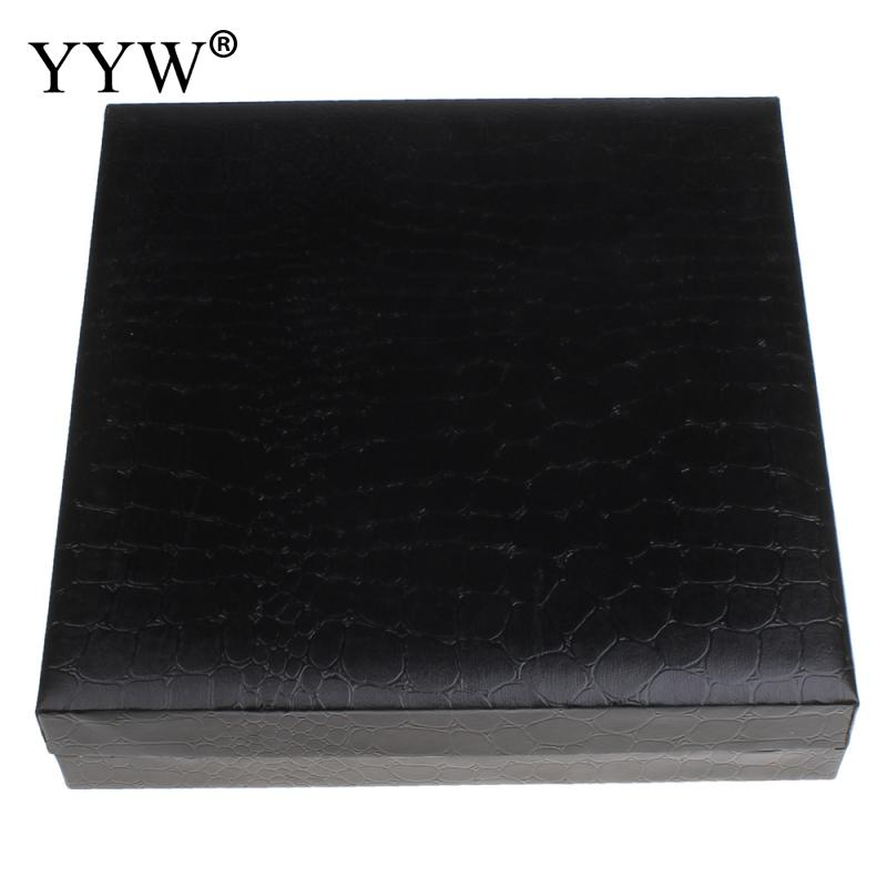 High Quality PU Leather Necklace Boxes Organizer Packaging Display Rectangle  Velvet Jewelry Boxes Gift Box For Wedding