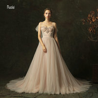 Королевские Свадебные платья 2018 Длинные свадебные платья из фатина съемные ремни Красивые Свадебные платья vestido de novia