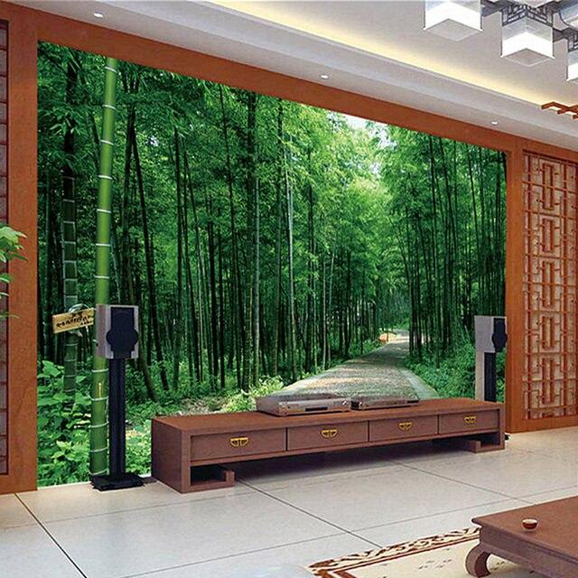 Custom Mural Wallpaper 3D Pastoral Landscape Bamboo Forest Wallpaper Bedroom  Living Room Sofa Backdrop Home Decor Wall Paper