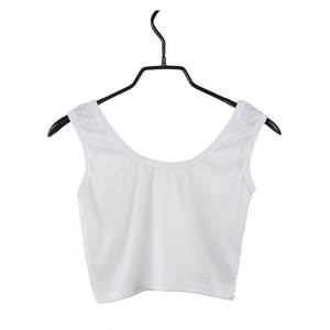 Vest Short Camisole Round-Neck Fitness Sexy Solid-Color Women's Cotton -Yl5 Close-Up