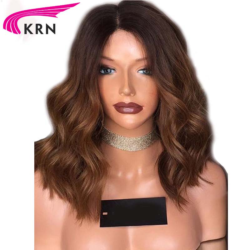Body Wave Ombre Glueless Lace Front Human Hair Wigs For Black Women 8 24 Inch Remy