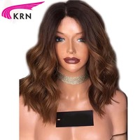 Body Wave Ombre Glueless Lace Front Human Hair Wigs For Black Women 8 24 Inch Remy Hair Brazilian Lace Wig Bleached Knots KRN