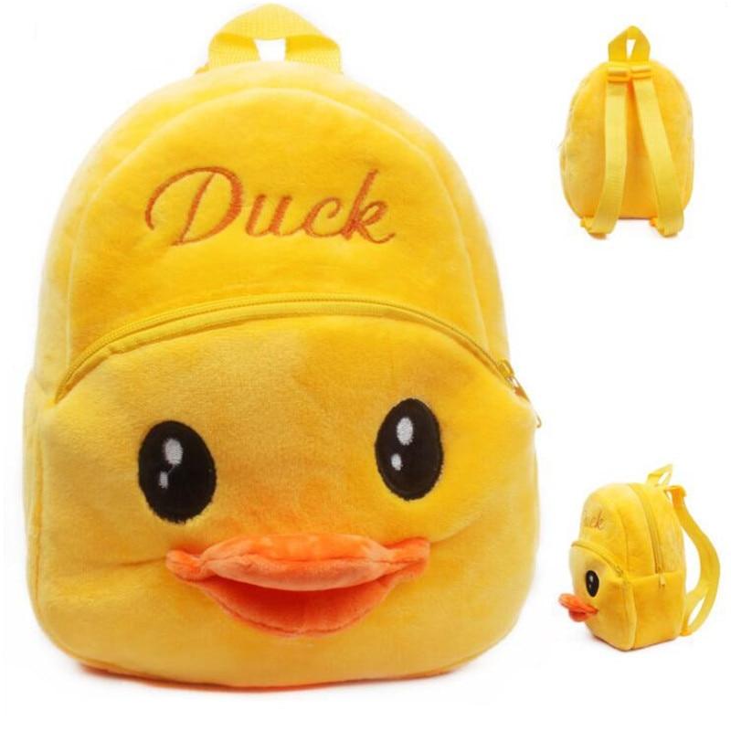Super Cute Little Yellow Duck Kids Plush Backpacker Children School Bags Christmas Birthday Gifts