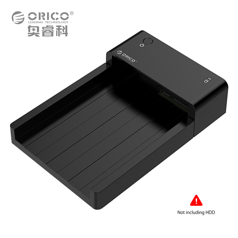 2.5 3.5 in HDD Docking Station Tool-Free USB 3.0 & eSATA to SATA External Hard Disk Drive SSD Enclosure Support 8TB with 12V2A