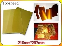 Polymer plate water washable with metal base 1pc for hot foil stamping A4 size Made in Japan