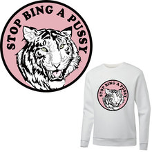 patch logo tiger ironing stickers patches for clothes heat transfer for T-shirt hoodie diy patch thermocollants vetement parches iron on letters patches for clothes ironing stickers heat transfers for t shirt hoodie jeans diy accessory press patch vetement