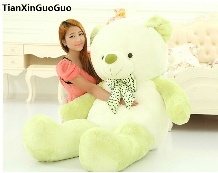 stuffed toy large 140cm cartoon green teddy bear plush toy doll soft hugging pillow birthday gift b2877 stuffed animal 140cm white teddy bear plush toy soft doll throw pillow gift w1690
