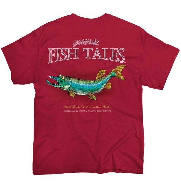 d926a55236c Funny Men t shirt Women novelty tshirt Fish Tale Fishing Shirt Muskie Lure  Sporting Good Tee T-Shirt
