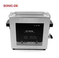 GT SONIC D6 6L intelligent CNC dual power with regular heating 300W ultrasonic cleaning machine 110V/220V Ultrasonic Cleaners