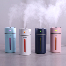 Newest Diamond Cup Ultrasonic Humidifier Air Purifier with LED Lights 250ML Mini USB Nebulizer Car Aroma Diffuser Mist Maker gxz energy bottle usb ultrasonic humidifier 1200mah battery led lights air humidifiers mist maker mini home cup air purifier
