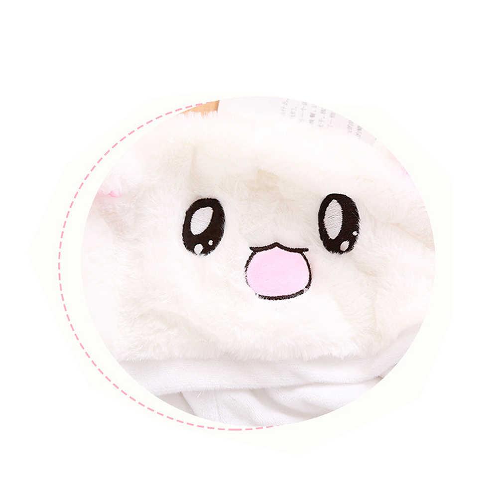 Gorros de dibujos animados para niños lindos gorros de lana vibradores pellizcan orejas largas Bunny moverá el sombrero del bebé niños y niñas gorra de juguete caliente