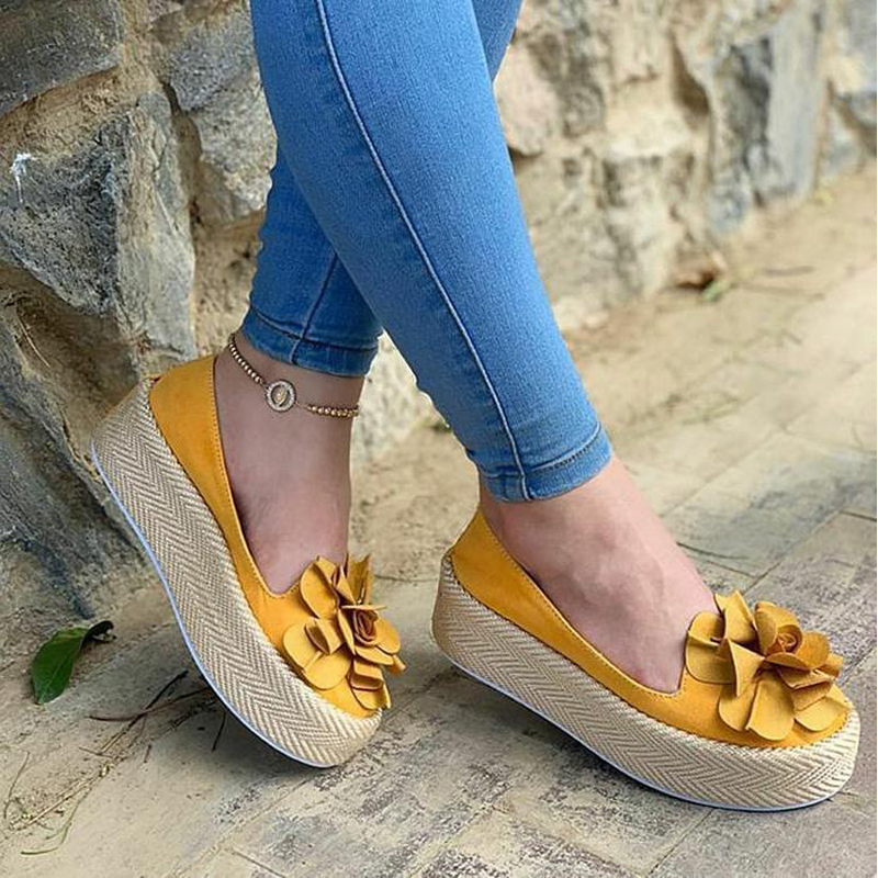 WENYUJH 2019 Spring Women Flats Shoes Platform Sneakers Slip On Flats Leather Suede Ladies Loafers Moccasins Casual Shoes Women