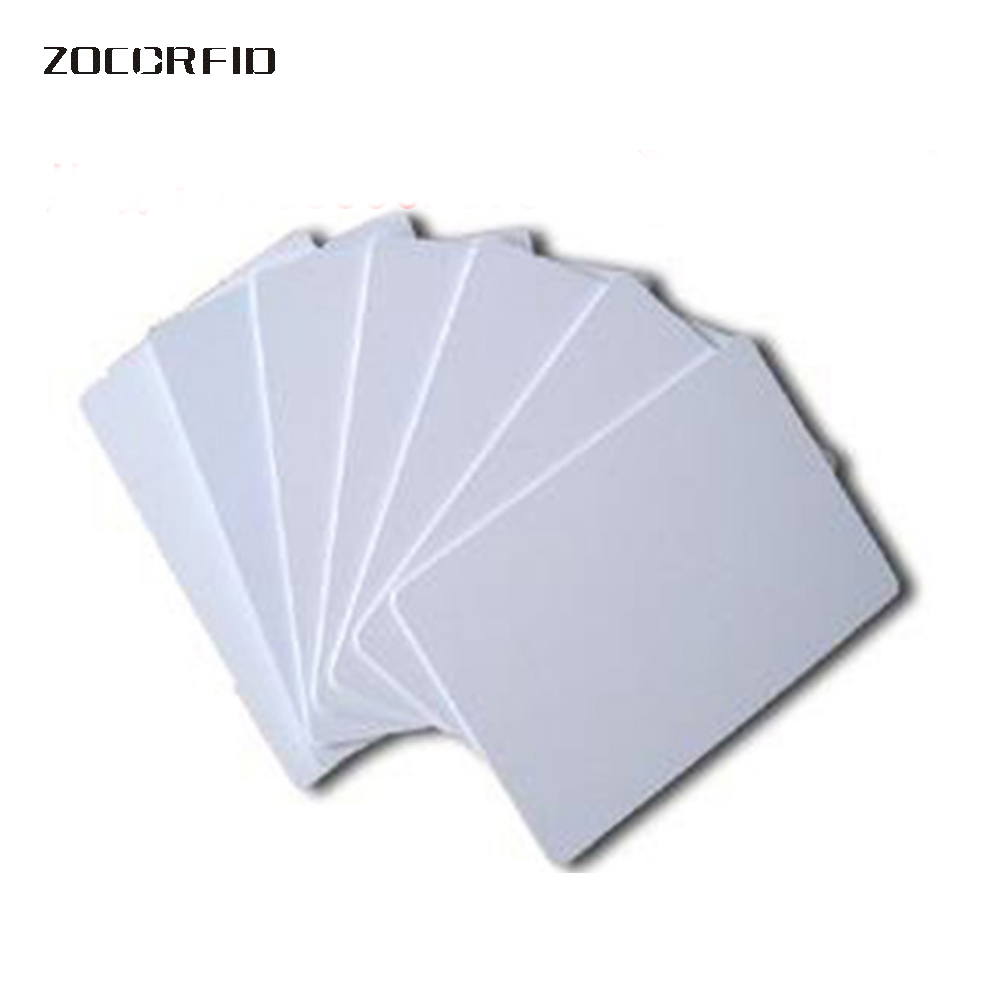 100 Pcs PVC White NFC Smart Card Tag  For IC 13.56MHz RFID Readable Writable New 8.5 X 5.4 X 0.1cm