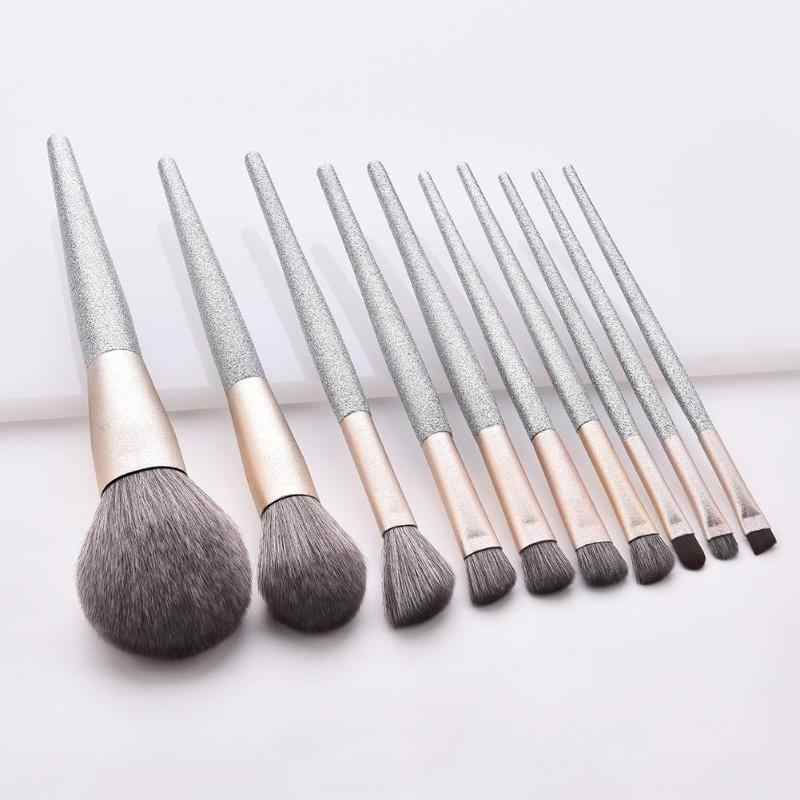 7pcs/10pcs Pro Makeup Brushes Set Portable For Foundation Powder Blush Eyeshadow Concealer Eye Make Up Brushes Cosmetics Beauty