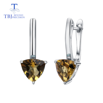 tbj butterfly shape bracelet and earring with natural rainbow opal gemstone set in 925 sterling silver fine jewelry for women TBJ,Natural citrine triangle 7.0mm earring gemstone 925 sterling silver fine jewelry simple design for girl best Valentine gift