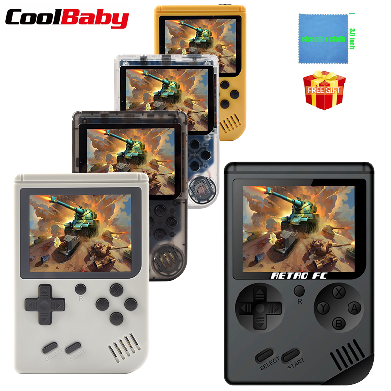 Coolbaby RS-6 A Retro Portable Mini Handheld Game Console 8-Bit 3.0 Inch Color LCD Kids Color Game Player Built-in 168 games(China)
