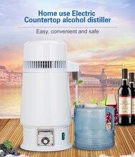 750W 4L ev imbik saf su filtresi makinesi 220V damıtma arıtma diş ekipmanları kazan bira cam kavanoz