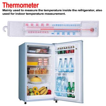 Zamrażarki domowe lodówki termometr do zamrażarka lodówka z hak ABS Mini miernik temperatury pomiaru temperatury tanie i dobre opinie Gospodarstw domowych termometry Z tworzywa sztucznego Lodówka termometry Cyfrowy C01731 100g refrigerator thermometer 60X20mm