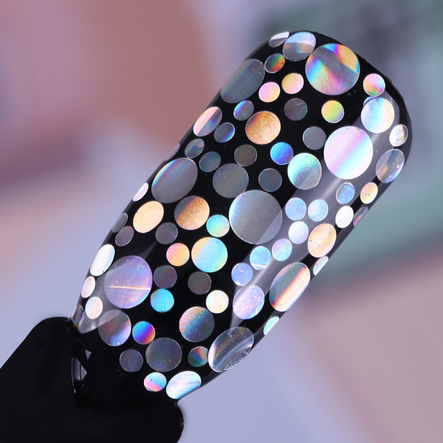 Mixed Size Nail Glitter Paillette Holographic Silver Flakies Colorful Round Rhombus Nail Sequins Manicure Nail Art Decoration