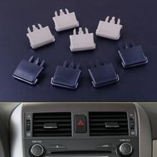 4 Pcs/lot voiture Center tableau de bord A/C Vent Louvre lame tranche climatisation feuille pince pour Toyota Corolla 2004   2007 2008 2009 2010
