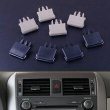 Centro del tablero del coche para Toyota Corolla, sistema de ventilación A/C con cuchilla del Louvre, hoja de aire acondicionado, Clip para Toyota Corolla 2013 2018 2004 2007 2008, 4 unids/lote