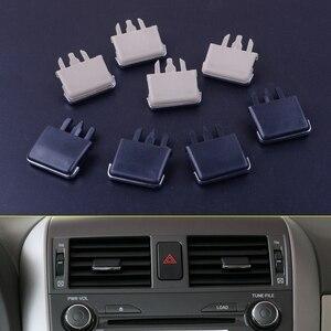 Image 1 - Centro del tablero del coche para Toyota Corolla, sistema de ventilación A/C con cuchilla del Louvre, hoja de aire acondicionado, Clip para Toyota Corolla 2013 2018 2004 2007 2008, 4 unids/lote