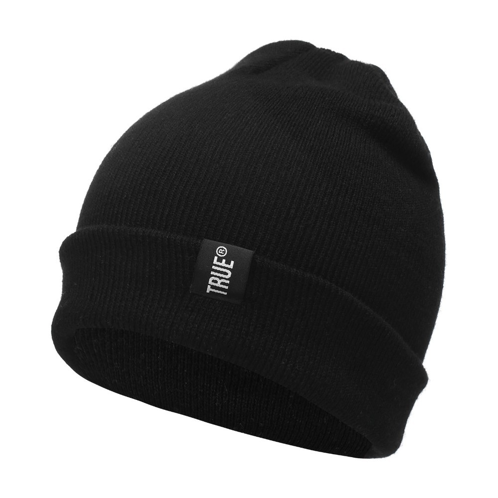Letter True Casual Beanies for Men Women Fashion Knitted Winter Hat Solid Color Hip-hop Skullies Bonnet Unisex Cap Gorro 1