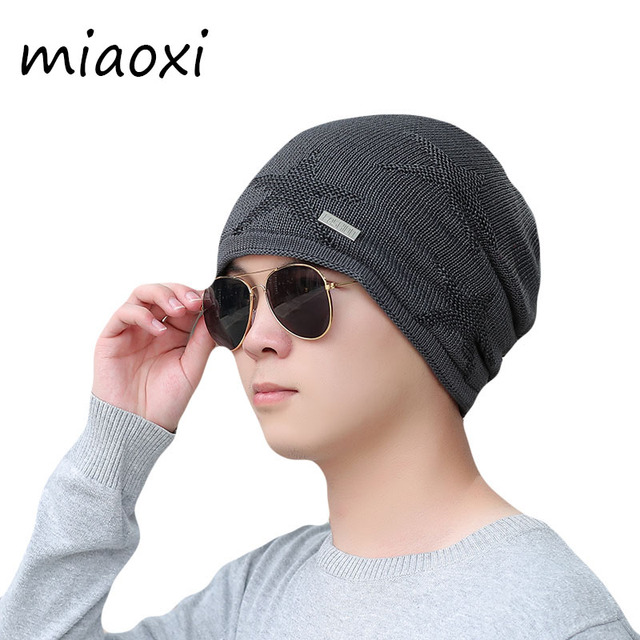 912ce07616859 miaoxi New Fashion Men Winter Beanie Skullies Thick Adult Star Warm Caps  For Male Fur Boy Hat Gorros Casual High Quality Bonnet