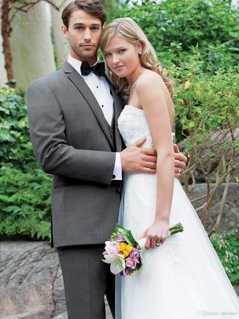 Traje de Novio Azul Beach Wedding Suit Silver Groom Tuxedos Grooms ...