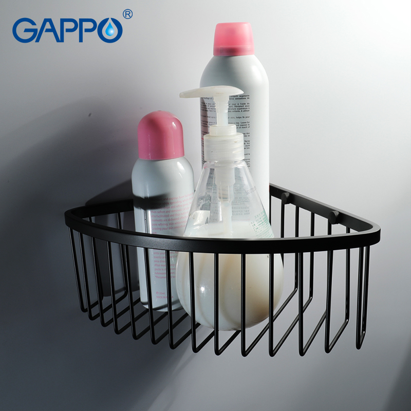 GAPPO Bathroom Shelves Wall Mounted Shower Holder Storage Holder Hanger Bath  Shower Accessories Bathroom Hardware