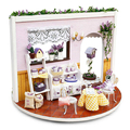 Lavender Story Garden Furniture Wooden Dollhouse DIY Miniature Kit Doll house