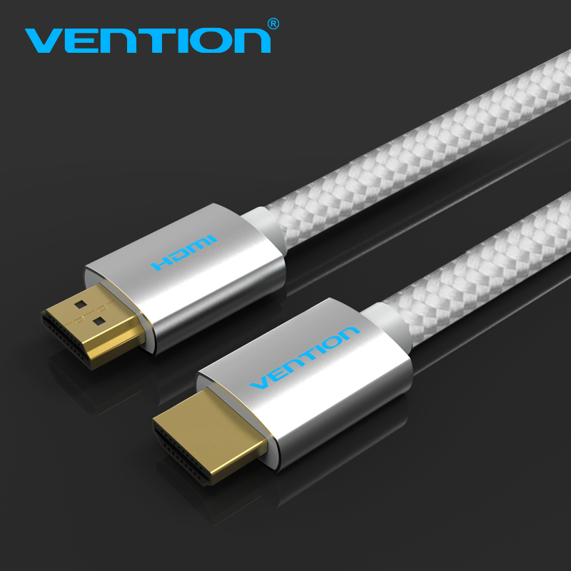 Vention HDMI 2.0 Cable 1m 1.5m 2m 3m 5m 10m 15m 4K 3D Cotton Braided Cable HDMI 2160P With Ethernet For Projector LCD Apple TV plastic braided hdmi extension cable for video camera dv tablets tv black red 5m
