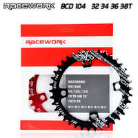 Einzigen geschwindigkeit system Breite kettenblatt 104 BCD RUNDE 32t 34t 36t 38t MTB 11 s 10 s 9 s 1*11 Kurbel Kettenblatt Ring