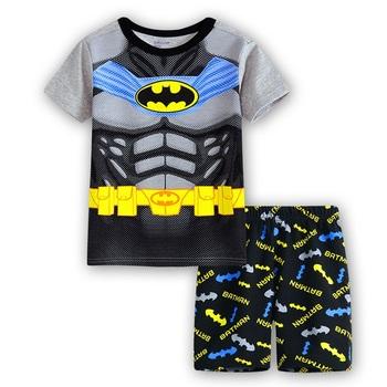136f51b6 See More kids pajamas girls boys set kid t-shirt+short pants cotton  children fashion Cartoon clothing Sleepwaear pajama sets
