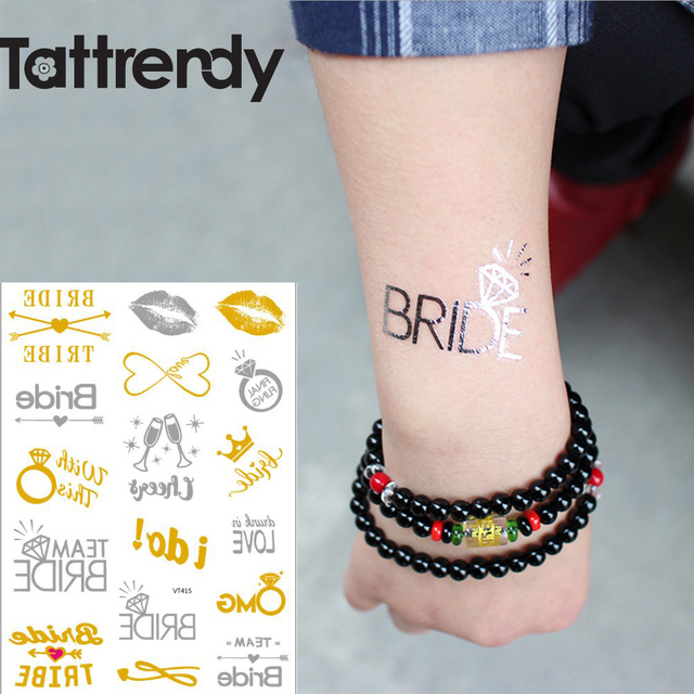 2a8235a488f7b Team bride tribe Temporary Flash Tattoo Gold Metallic bachelorette party  accessories Bridesmaid bridal shower wedding decoration