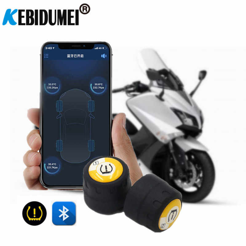 Universal TPMS Bluetooth 4.0 External tyre pressure sensor support IOS Android phone Wireless Tire pressure sensor Easy Install