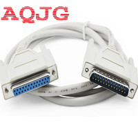 25Pin 25 Pin DB25 Parallel Male To Female LPT Printer DB25 M F Cable