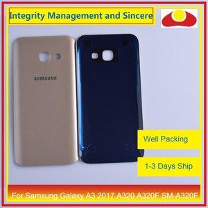 Image 5 - 50 Pcs/lot pour Samsung Galaxy A3 2017 A320 A320F SM A320F boîtier batterie porte arrière couverture châssis coque