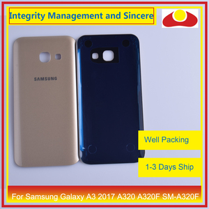 Image 5 - 50Pcs/lot For Samsung Galaxy A3 2017 A320 A320F SM A320F Housing Battery Door Rear Back Cover Case Chassis Shell
