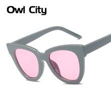Elegant Women Cat Eye Sunglasses Luxury Brand Designer Acetate Frame Gradient Multicolour Len Male Female Oculos de sol UV400
