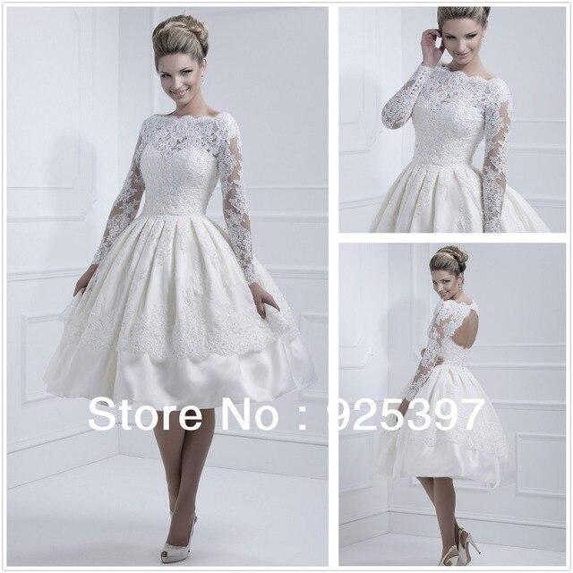 Short white long sleeve lace overlay dress