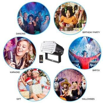 Remote-Sound-Musik Rhythmus-Licht LED Laser Projektor Bühne DJ Disco Licht Club Tanzen Party Lichter Bühne Effekt Beleuchtung