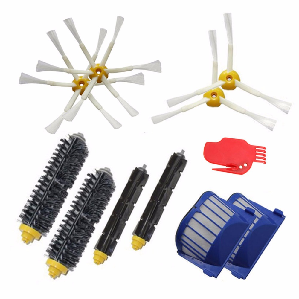 Home Appliance Parts Responsible Aero Vac Filter Flexible Beater Brush Bristle Brush 6-armed Side Brush Kit For Irobot Roomba 500 600 Series Robot Vacuum Cleaner