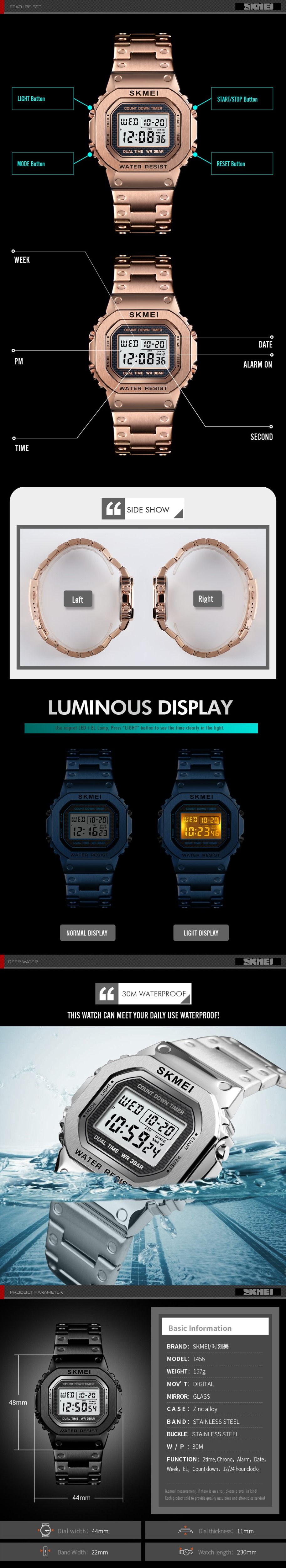 ar livre relógio de pulso da marca